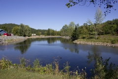 View at Riverside Park in AuSable Forks NY