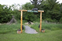 Henrys Trail at Francis M. Pattno & John F.  Gale Memorial Park in AuSable Forks NY
