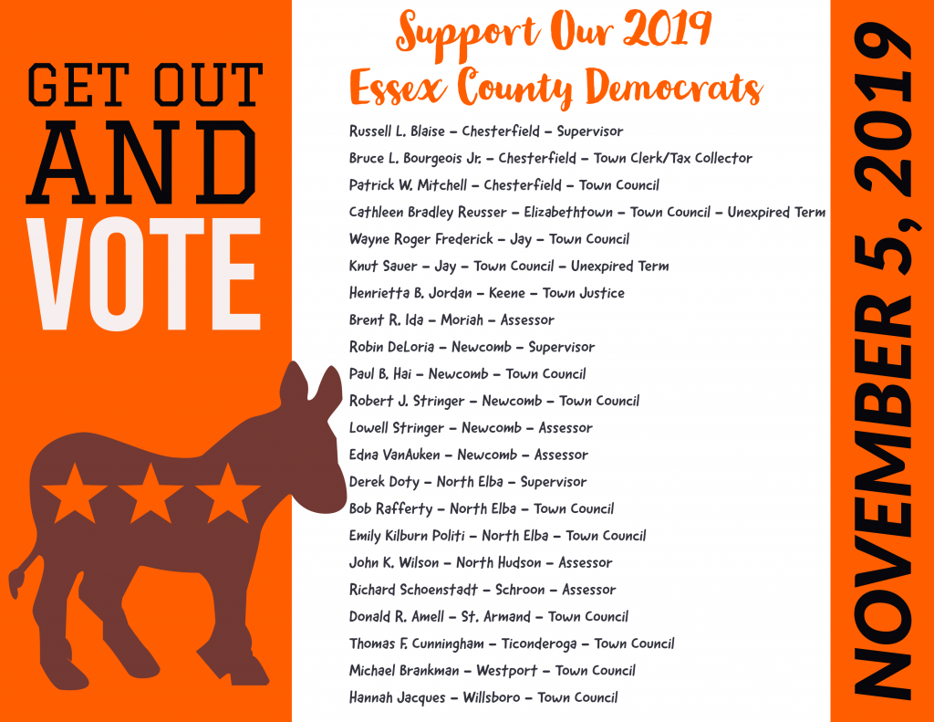 Support Our 2019 Essex County Democrats!